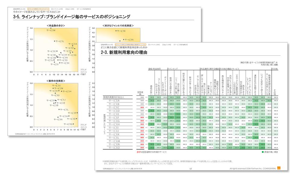 定額制動画配信サービス ブランド・ロイヤリティ調査